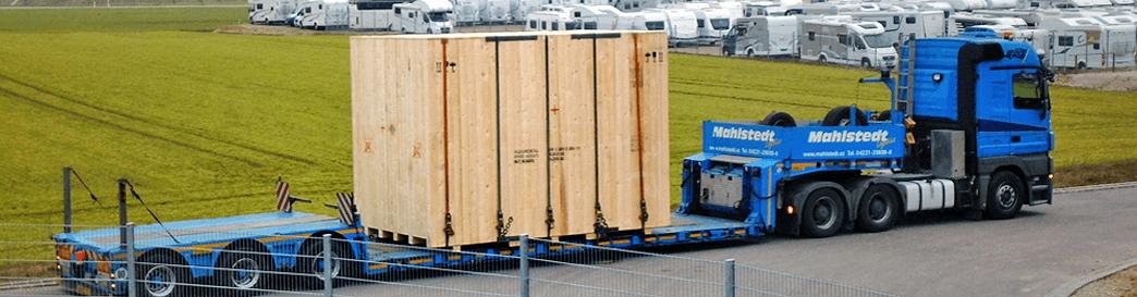 Lignox Kiste auf LKW